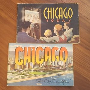 "2 Chicago ""City Highlights"" Books. Vintage Cool"